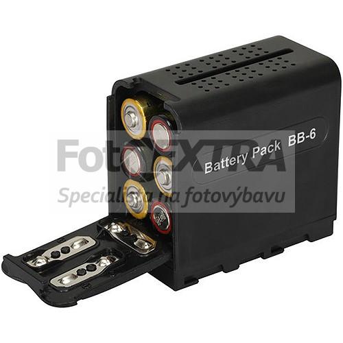 Battery Pack BB-6 adaptér/redukce tužkových baterií AA na Sony NP-F970/NP-F960/NP-F950/NP-F930/NP-F770/NP-F750/NP-F730/NP-F570/NP-F550