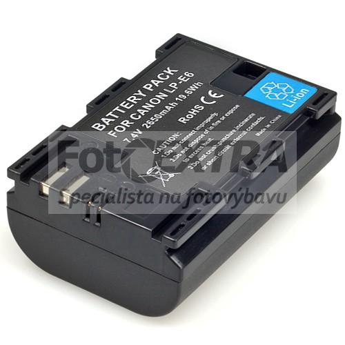 LP-E6 Li-ion dobíjecí baterie pro Canon EOS R6/R5/R/90D/80D/70D/60D/7D Mark II/7D/6D Mark II/6D/5DS/5DS R/5D Mark IV/5D Mark III/5D Mark II