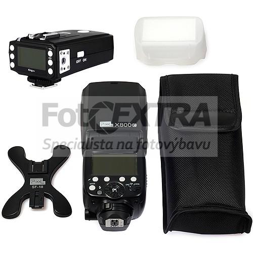 Pixel X800C PRO E-TTL blesk + rádiová řídicí jednotka Pixel King pro Canon (Speedlite GN60, HSS) + doprava ZDARMA!
