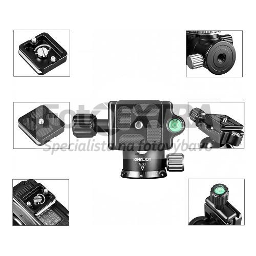 Kingjoy G22C+G00 karbonový foto stativ s kulovou hlavou a monopod 2 v 1