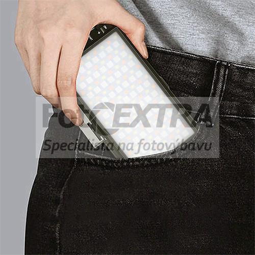 Pixel G1s RGB LED video světlo s vestavěnou baterií a USB-C (150 LED diod, 2500–8500 K, 3200 mAh)