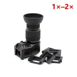 Úhlový hledáček se zvětšením 1x-2x pro Canon, Nikon, Fujifilm, Pentax, Samsung, Konica Minolta