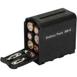 Battery Pack BB-6 adaptér/redukce tužkových baterií AA na Sony NP-F970/NP-F960/NP-F950/NP-F770/NP-F750/NP-F730/NP-F570/NP-F550